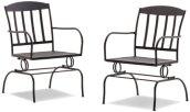 Strathwood Basics Steel Mesh Spring Dining Chair, Set of 2