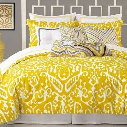 Trina Turk Palm Spring Block 400T Cotton White Chartreuse Euro Sham NEW