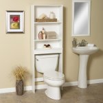 Zenith Products 9400W Open Shelf Bathroom Space Saver Rack, White