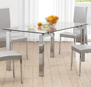 Zuo Roca Dining Table modern glass table
