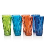 8pc Break-resistant Restaurant-quality SAN Plastic 28-ounce Iced Tea Cup Tumblers in 4 Assorted Colors