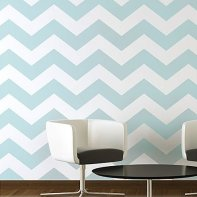 Chevron Allover Stencil - Large Scale