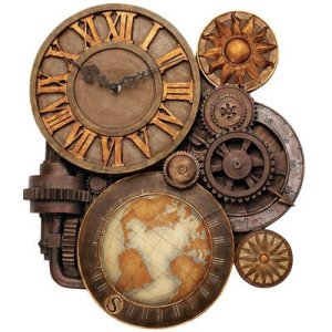 Gears of Time Industrial style wall clock