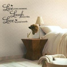 Hotportgift A Vinyl Decal Live every moment,Laugh every day,Love beyond words Wall Quote