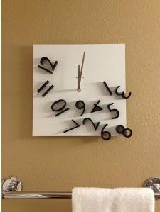 Karlsson Wall Clock Falling Numbers, Black White