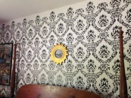 Large Wall Damask Stencil Faux Mural Design #1056 13inch x 16inch