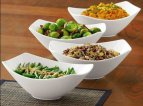 Over-and-Back 4-Piece Porcelain Serving Bowl Set