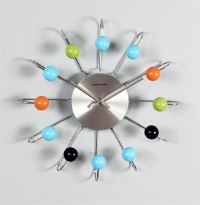 Verichron Atomic Ball Wall Clock, Multi Silver