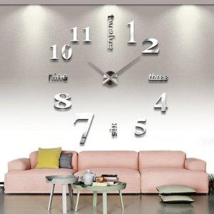 Yesurprise Modern 3D frameless wall clock