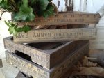 Antique Style Produce Crates with Yardstick Design
