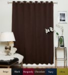 Chocolate Nickel Grommet Top Thermal Insulated Blackout Curtain 100 Inch Wide By 96 Inch Long Panel