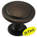Cosmas 5560ORB Oil Rubbed Bronze Cabinet Hardware Round Knob - 1 1-4 inch Diameter - 25 Pack