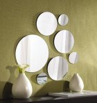 Elements Round Mirror, Set of 7