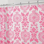 InterDesign Damask Shower Curtain, Hot Pink, 72-Inch by 72-Inch
