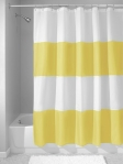 InterDesign Zeno Waterproof Shower Curtain yellow