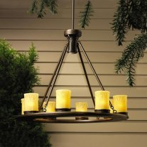 Kichler 15402OZ Oak Trail 12V Outdoor Chandelier - Low Voltage Specialty Lighting from the Oak T, Olde Bronze