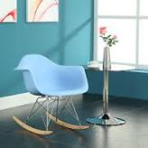 Lexmod Rocker Lounge Chair blue