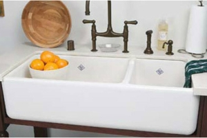 Rohl RC4019WH 39-1-2-Inch by 18-1-2-Inch by 10-Inch Deep Shaws Rutherford Plain Apron Front Fireclay Kitchen Sink, White
