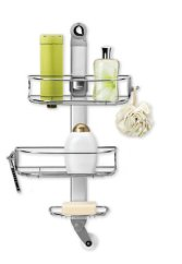simplehuman Adjustable Shower Caddy, Stainless Steel