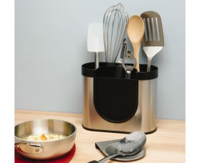 Simplehuman KT1040 Brushed Stainless-Steel Utensil Holder