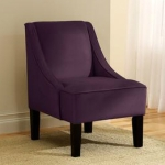 Skyline Furniture Swoop Arm Chair in Velvet Aubergine