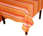 Squish Southwest Mexican Fiesta Stripe Design Cotton Tablecloth - Red, Blue Yellow