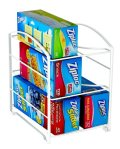 DecoBros Kitchen Wrap Organizer Rack, White (Large, 3.75 inch BOX)