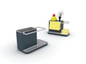 Joseph Joseph Caddy Sink Tidy, Dark Grey and Grey