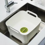 Joseph Joseph Wash and Drain Dish Tub, White