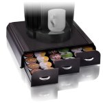 Mind Reader Anchor Coffee Pod Storage Drawer for 36 Keurig K-Cup, 42 CBTL Verismo Coffee Pods, Black