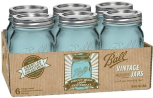 Ball Jar Heritage Collection Pint Jars with Lids and Bands, Set of 6