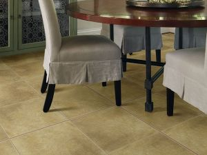 Brushstone 18 x 18 Porcelain Tile in Camel
