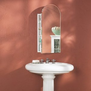 Broan-NuTone 52WH244PA 1-2-Inch Metro Arch Beveled Mirror