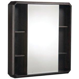 Danze DF024120WG Cirtangular Brulee Mirrored Cabinet, Wenge Stain