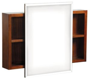 Danze DF034120ZB Ziga Zaga Mirrored Cabinet, Zebra Veneer