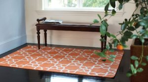 Extra Weave USA Glenwood Dhurrie Area Rug, Apricot, 6-Feet by 9-Feet