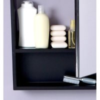Fresca Fresca Large Espresso Bathroom Medicine Cabinet with Small Bottom Shelf, Black, Wood2