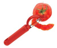 Messermeister Pro-Touch Red Serrated Swivel Peeler
