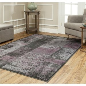 Safavieh PAR100-330-5 Paradise Collection Area Rug, 5-Feet 3-Inch by 7-Feet 6-Inch, Charcoal Multi Viscose