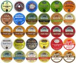30-count TOP BRAND COFFEE, TEA, CIDER, HOT COCOA and CAPPUCCINO K-Cup Variety Sampler Pack, Single-Serve Cups