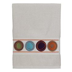 Creative Bath Products Dot Swirl Embroidered Hand Towel, Multi-Color