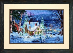 Dimensions Counted Cross Stitch, Gold Collection Winter's Hush