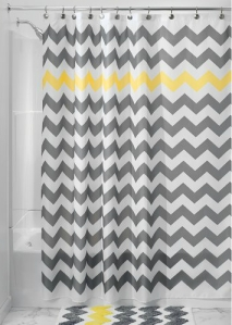 InterDesign Shower Curtain, 72-Inch by 72-Inch, Chevron
