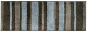 InterDesign Stripz Microfiber Bath Rug, 21-Inch by 34-Inch, Mocha Gray
