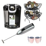 Keurig® 2.0 K350 Brewing System with Coffee Baskets, Milk Frother, and Knox 16oz. Mug With Spoon (2 Pack)