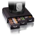 Mind Reader Anchor Coffee Pod Storage Drawer for 36 Keurig K-Cup, 42 CBTL Verismo Coffee Pods, Black