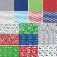 Moda Folk Art Holiday Charm Pack, Set of 42 5-inch (12.7cm) Precut Cotton Fabric Squares.2