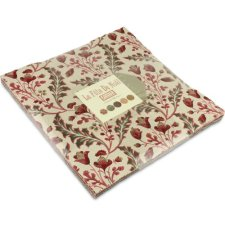 Moda French General La Fete de Noel Layer Cake, Set of 42 10-inch (25.4cm) Precut Cotton Fabric Squares.1