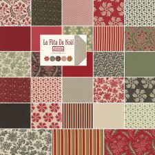 Moda French General La Fete de Noel Layer Cake, Set of 42 10-inch (25.4cm) Precut Cotton Fabric Squares.2