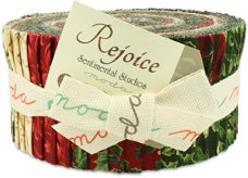 Moda Rejoice Jelly Roll, Set of 40 2.5x44-inch (6.4x112cm) Precut Cotton Fabric Strips.1